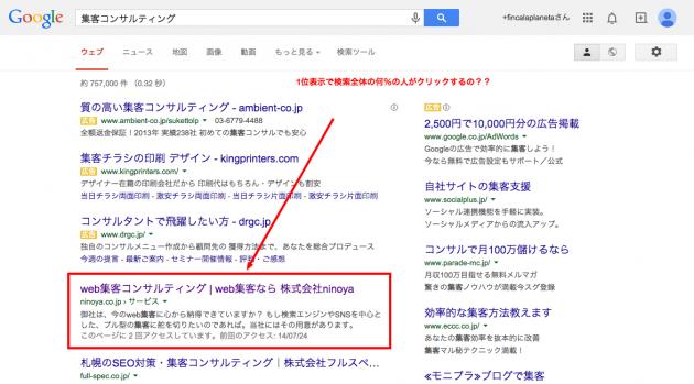 集客コンサルティング   Google 検索