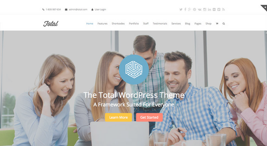 Total Drag & Drop WordPress Theme