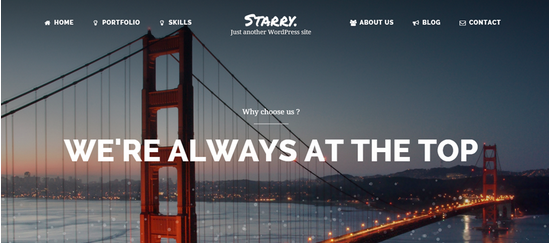 Starry Creative WordPress Theme