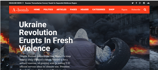 A-Bomb Blog & Magazine WordPress Theme